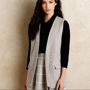 Anthropologie Elevenses Gray Wool Blend Vest
